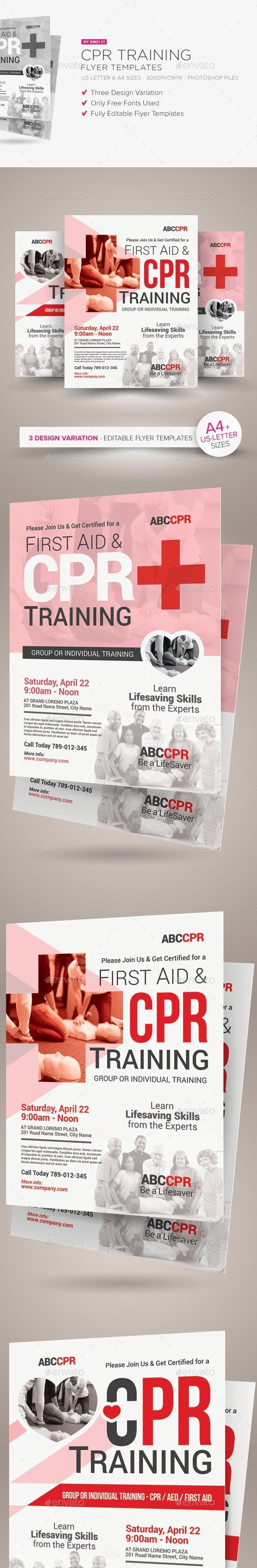 Cpr Training Flyer Templates Cpr Training Cpr First Aid