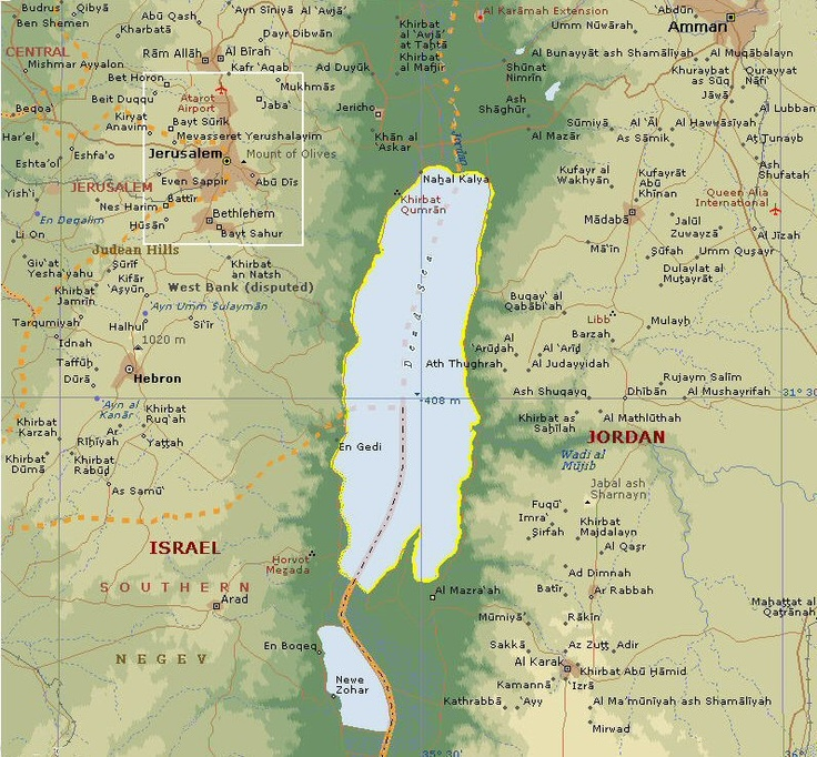 108 best travel jordan images on pinterest civilization middle map of dead sea the lowest place on earth when i stayed at the gumiabroncs Image collections