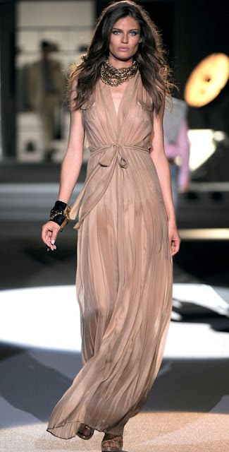 Dsquared2 Natasha Nude Long Dress