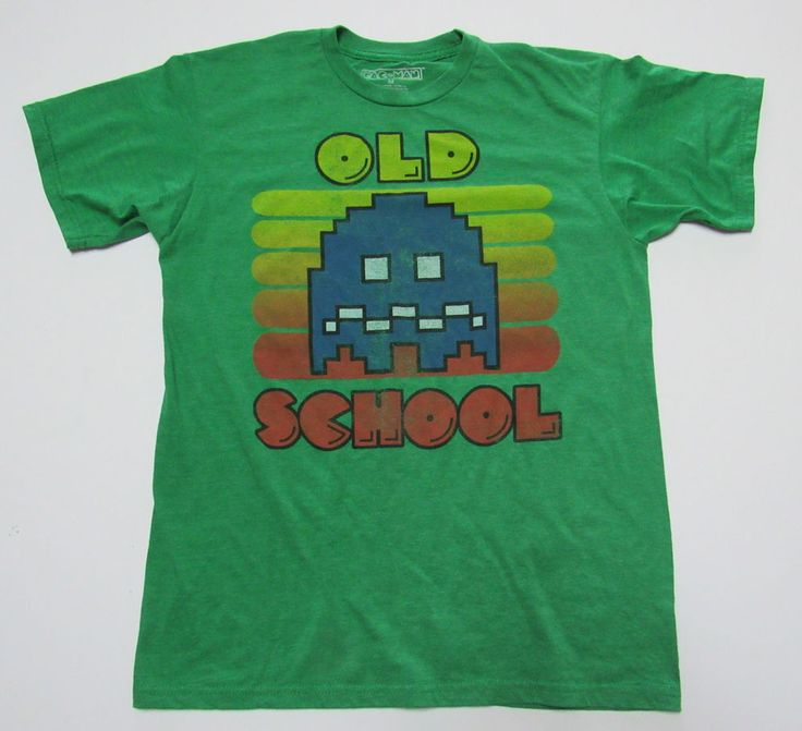 PacMan Old School Medium T-Shirt Distressed Vintage Style Pac Man Arcade  Game…
