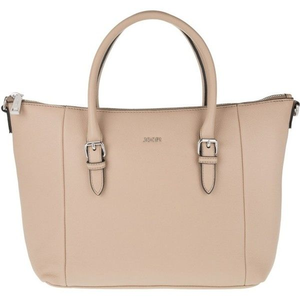 JOOP! Thoosa Handbag Small Nature Grain Nude in beige, Handle Bags ($390) ❤ liked on Polyvore featuring bags, handbags, shoulder bags, beige, beige shoulder bag, man bag, nude handbags, pink hand bags and top handle handbags