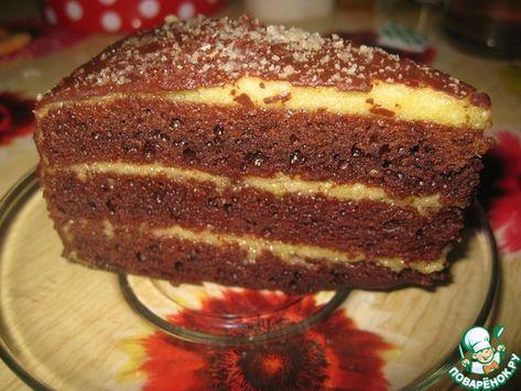 Постный шоколадный торт с апельсиновым кремом