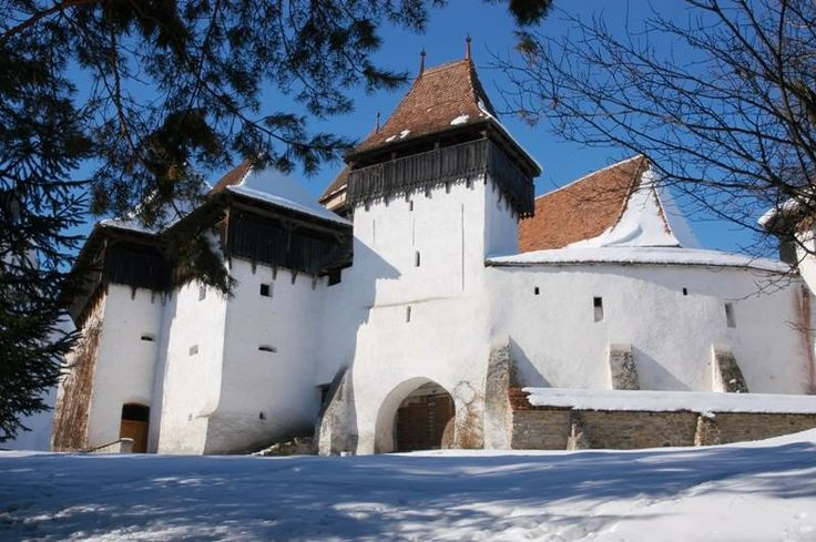 UNESCO fortified church from VISCRI village, Brasov county. These beautiful and picturesque Transylvanian villages charmed even His Royal Highness Charles, the Prince of Wales, who bought and restored two 18th-century Saxon houses.
