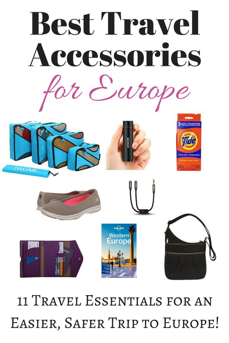 Best Travel Accessories for Europe: Wondering what to bring to Europe? My list of the 11 best travel accessories for Europe will help make your trip easier and safer. Don't leave any of these Europe travel essentials behind!
