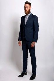 Tommy Textured Suit - Navy
