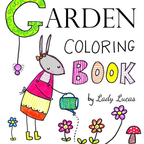 Zinnies Garden Coloring Book Instant Download PDF