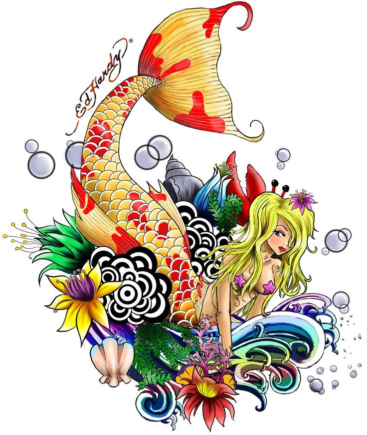 Under the Sea--tattoo design by Lil-Elle.deviantart.com
