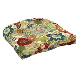 Garden Treasures Bloomery Floral Seat Pad For High-Back Chair Af11530b