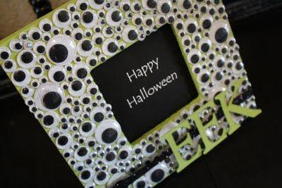 Halloween CraftFrames Crafts, Halloween Crafts, Googly Eye, Halloween Frames, Eye Halloween, Eye Frames, Picture Frames, Halloween Pictures, Pictures Frames