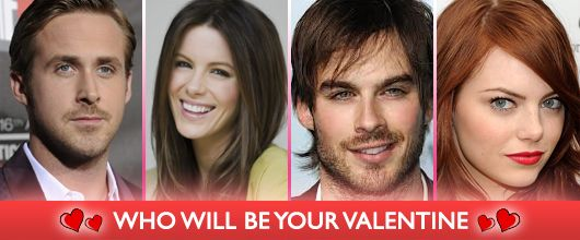 Which Celebrity Would You Like As Your Valentine? #Hollywood #Celebrities #Valentine