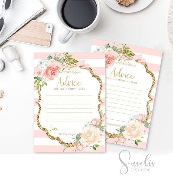 Advice for the Mommy to be Card Baby Shower Game Printable