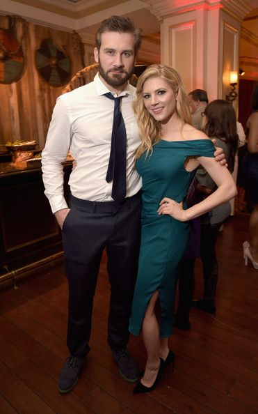 Clive Standen & Katheryn Winnick: JAN 2015 TCA History Vikings Party