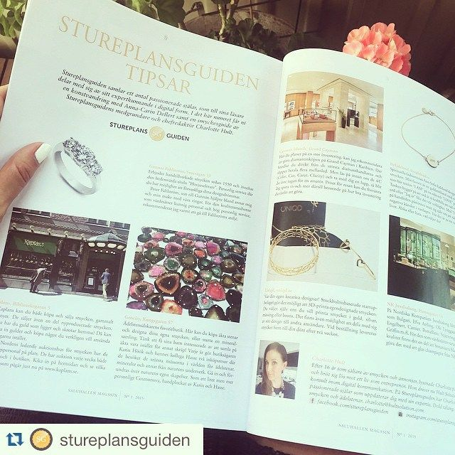 In Östermalms Saluhall Magazine #UNIQD has been featured in the jewelry guide by @charlottehult ! #Repost @stureplansguiden If you are near by don't forget to pick up your own copy!