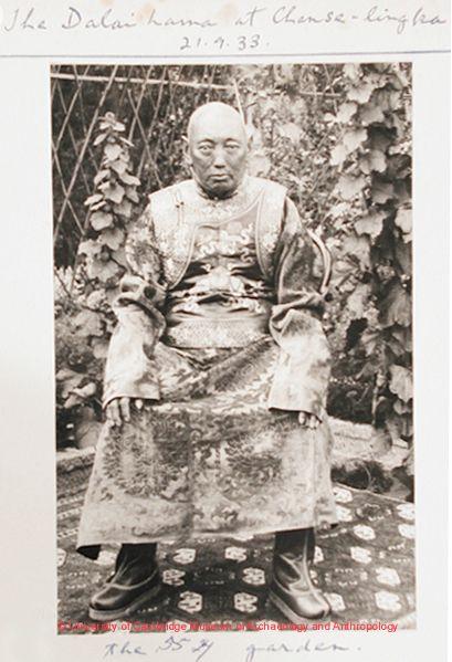 The previous Dalai Lama in 1933