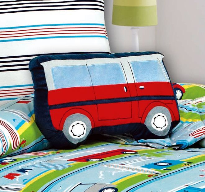 Kooky Surfs Up Van Cushion