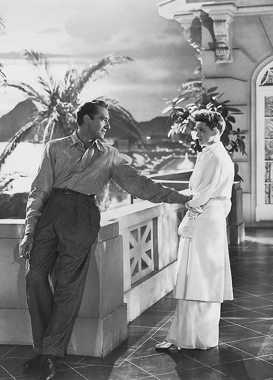 "Bette Davis and Paul Henreid, Now Voyager.  The "" well I'm not going to struggle with you "" scene."