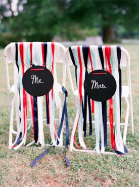 Wedding Chair Signs & Decor