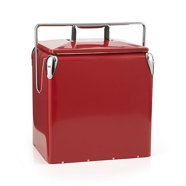 Red Picnic Cooler   Crate and Barrel