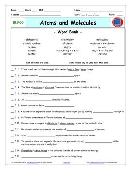 differentiated video worksheet quiz ans for bill nye atoms and molecules physical. Black Bedroom Furniture Sets. Home Design Ideas