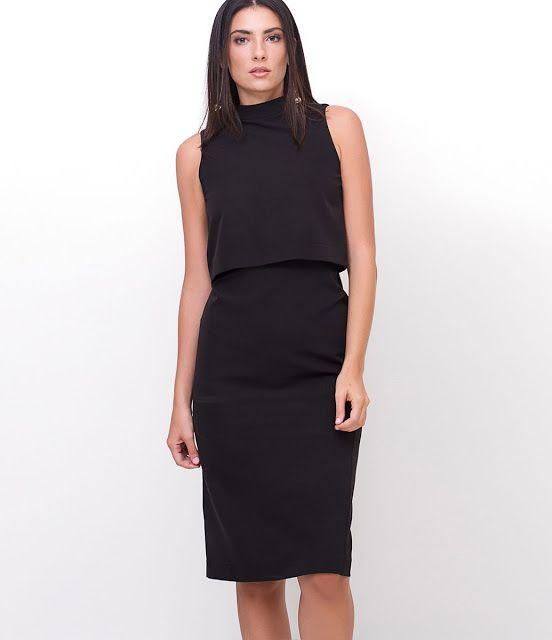 Esse tubinho preto da Lojas Renner foi remarcado de R$159,00 para R$89,90 e tem em todos os tamanhos no site. Este vestido é tudo de bom porque serve tanto para trabalhar como para diversos eventos em que você precisa estar arrumada. Preço de 19/07/17