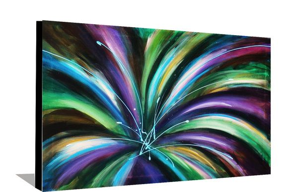Abstract Painting Flower Painting or von heatherdaypaintings