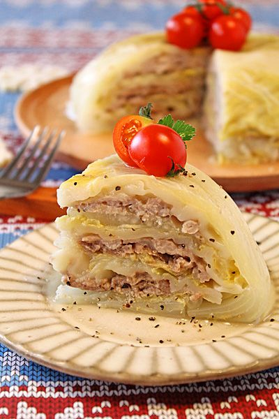 炊飯器で簡単!餃子の皮でもっちり白菜豚バラドーム - ぱおのおうちで世界ごはん☆