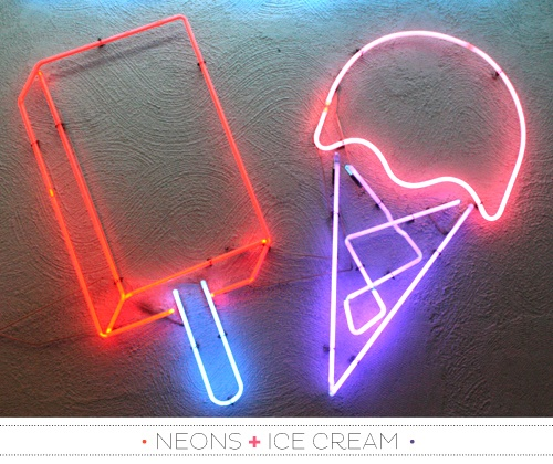 """NEON """"ICE CREAM"""" SIGNS   ๑෴MustBaSign෴๑"""