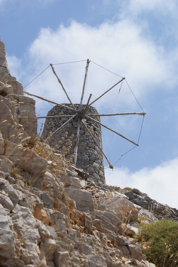 We ♥ Greece | Old windmill, #Lasithi, #Crete #Greece, #travel, #destination, #explore