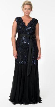 198 best plus sized bridesmaid dresses images on pinterest for Black tie wedding dresses plus size