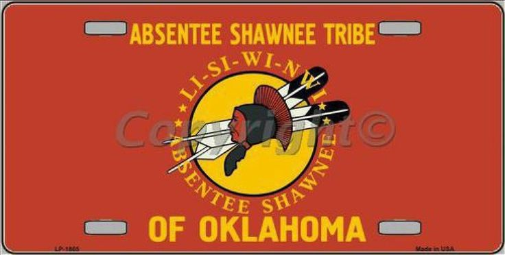 Absentee Shawnee Tribe of Oklahoma Flag Tag Sign