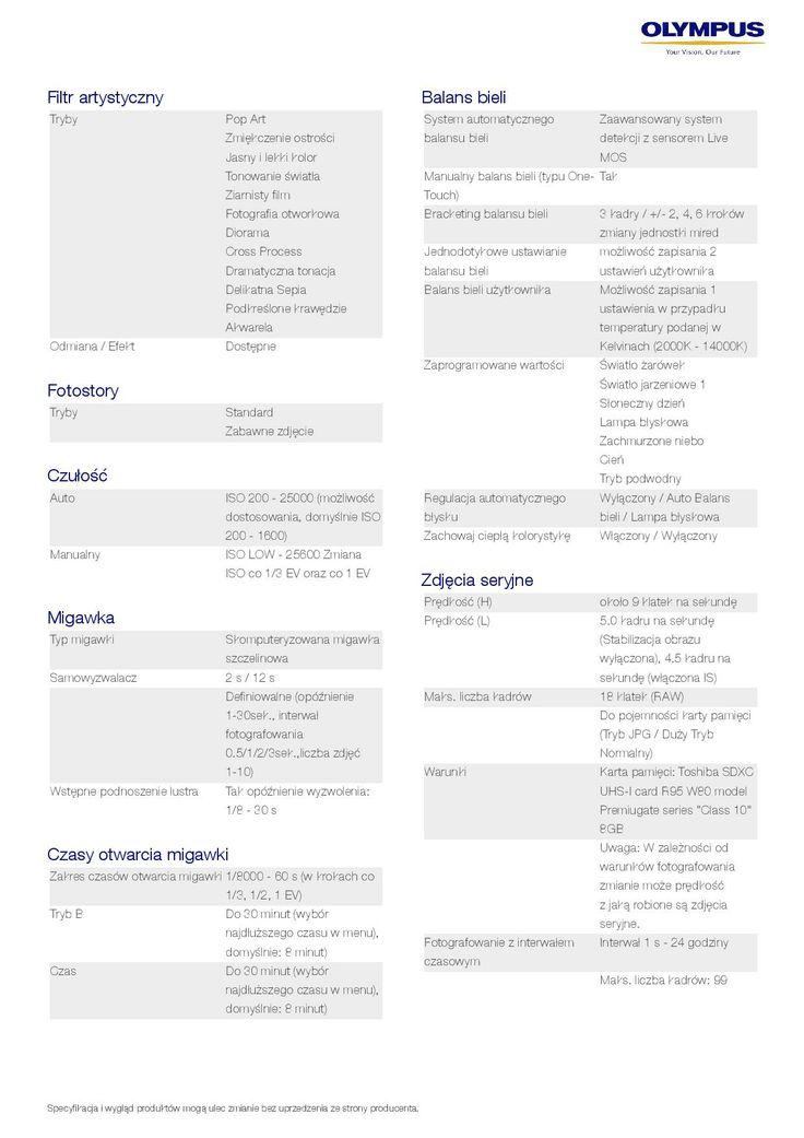 Olympus PEN E-P5 - specyfikacja 4/9