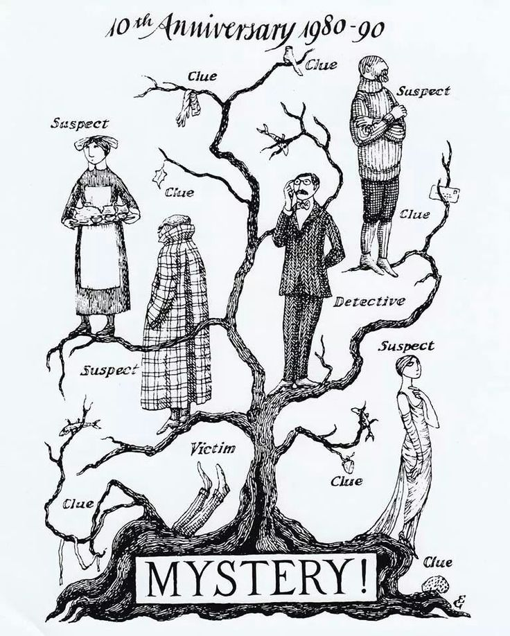 Gorey tree // pbs mystery