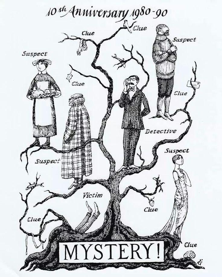 Gorey tree // pbs mystery