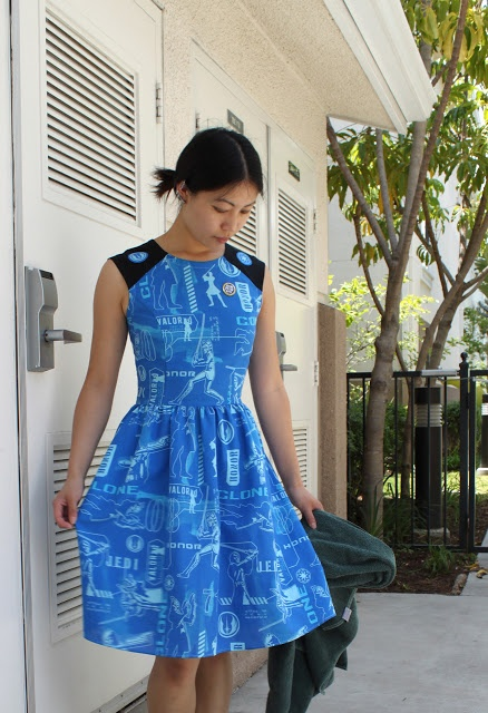 Cation Designs: Happy Geek Pride Day! Dress from bed sheet, I like the pattern