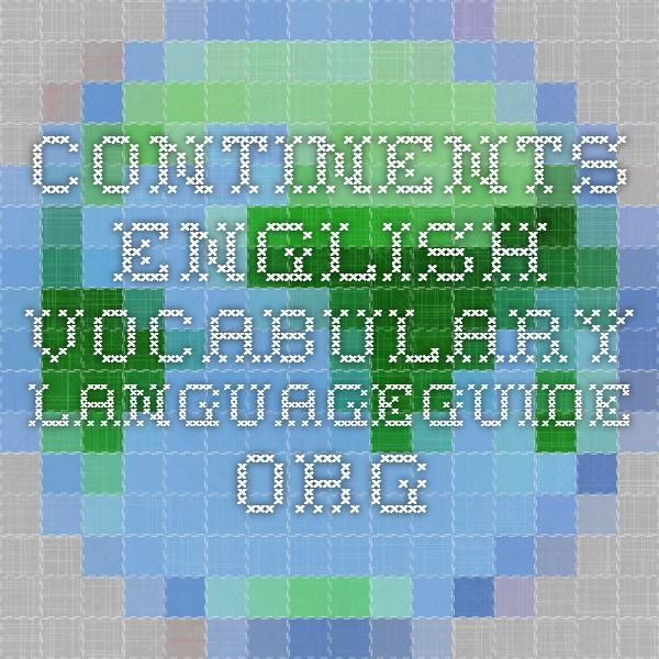 Continents - English Vocabulary - IWB activity.