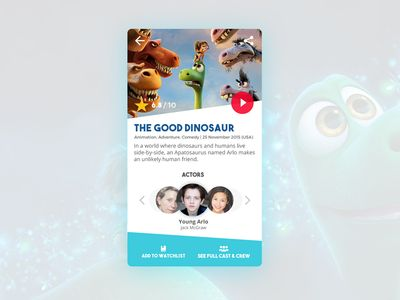 Movie Card Ui Design