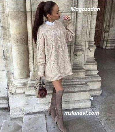 Вязаный пуловер спицами из Magazadan - СХЕМА http://mslanavi.com/2017/03/vyazanyj-pulover-spicami-iz-magazadan/