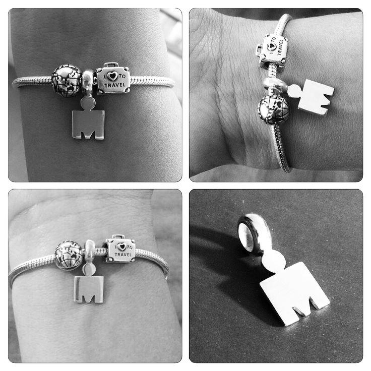 Colgante de Plata para pulsera Pandora, diseño Ironman Triatlon /  Pandora Bracelet Pendant, Ironman Triathlon design /  #hechura #joyeria #hechoamano #colgante #plata #ironman #triatlon #handmade #jewelry #sterling #silver #sterlingsilver #pandora #bracelet #pendant #triathlon / rodolfo@hechura.cl www.hechura.cl