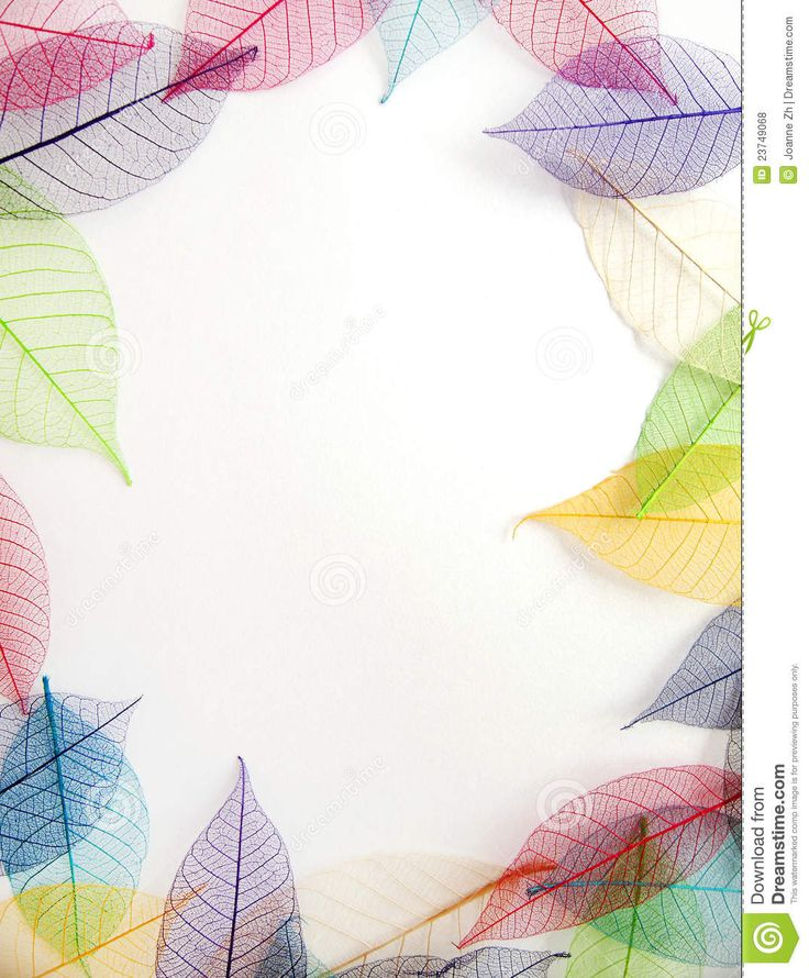 pastel-leaves-frame-white-background-23749068.jpg (JPEG Image, 1075 × 1300 pixels)