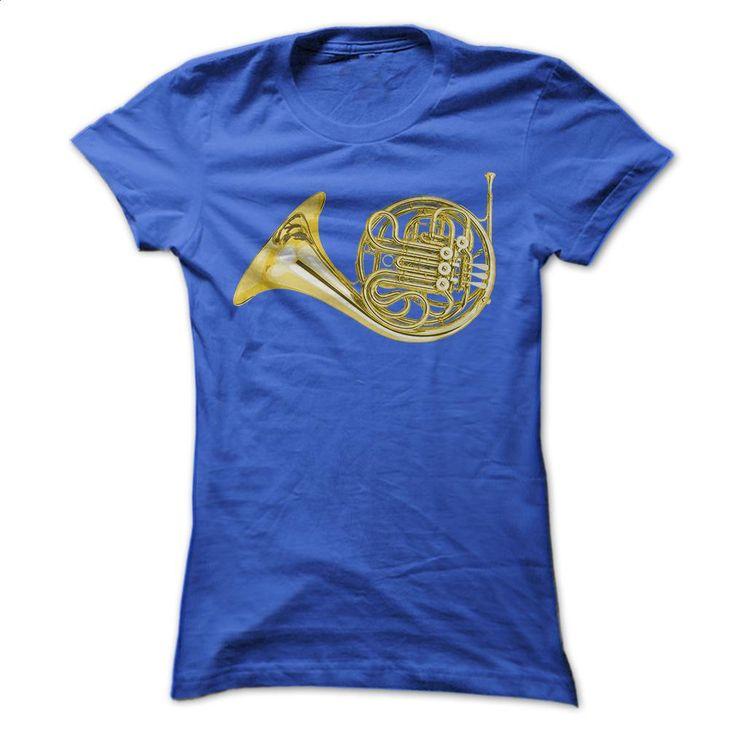 Gold French Horn T Shirts, Hoodies, Sweatshirts - #sleeveless hoodie #denim shirts. CHECK PRICE => https://www.sunfrog.com/Music/Gold-French-Horn-Ladies.html?60505