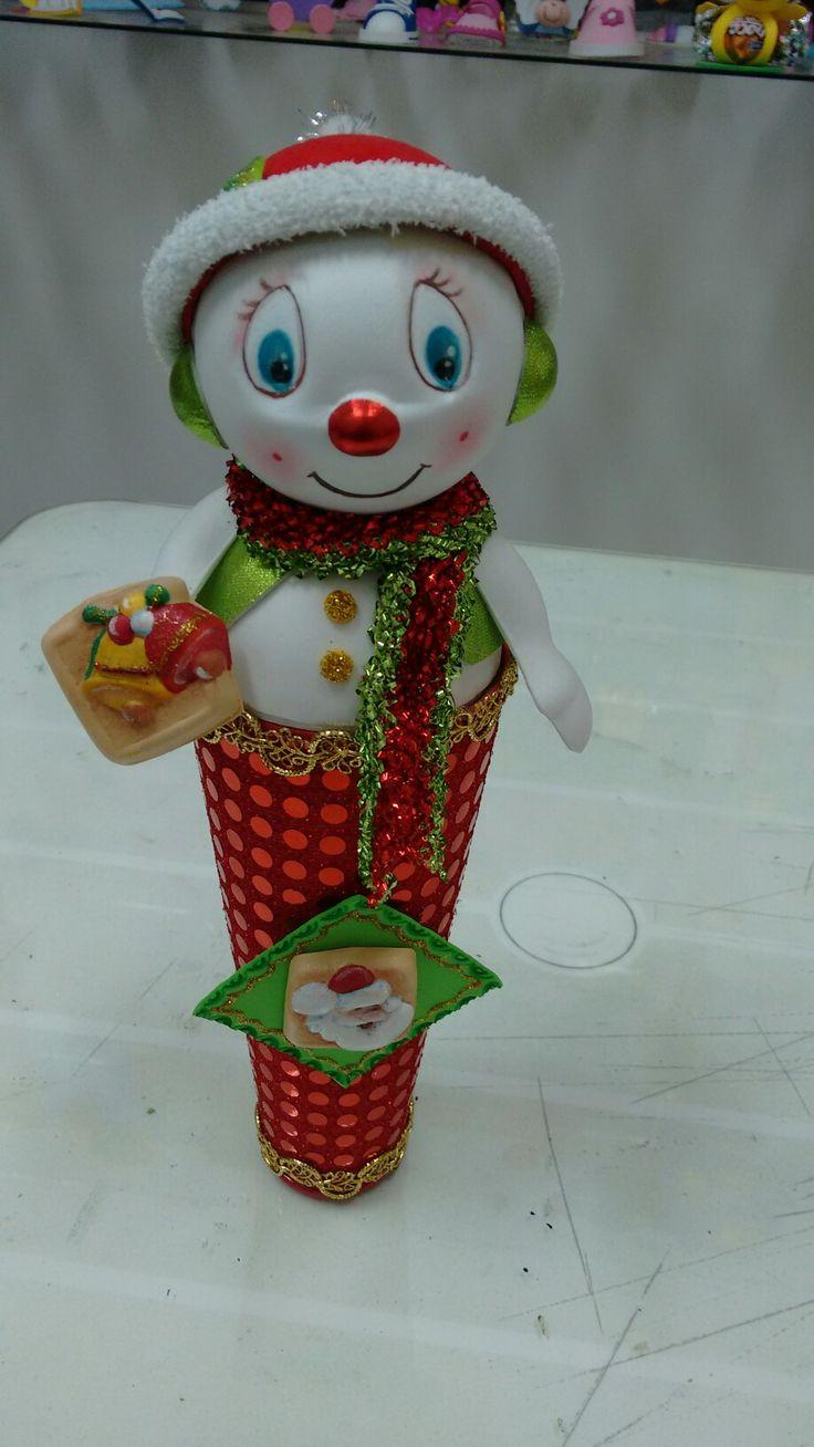 Muñeco de nieve galletas