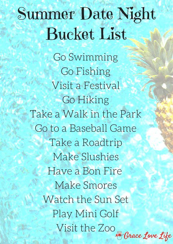 Summer Date Night Bucket List | Grace Love Life