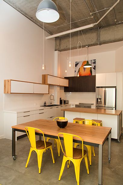 Industrial apartment custom built kitchen. Interior decoration by Design Art House.