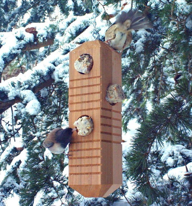 Suet Log Bird Feeder - Hanging Bird Feeder - Woodpecker Feeder | $31.00