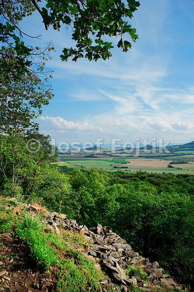View from the Ostry Hill to the south, Czech Republic