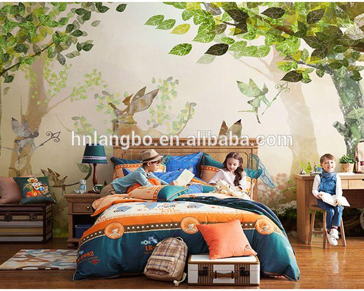 Personalizado sala de niños dormitorio restaurante del tema bosque de dibujos animados hadas flor wallpaper mural-Fondos y Recubrimiento para muros-Identificación del producto:60670994568-spanish.alibaba.com