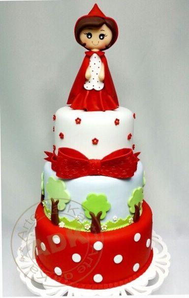 Resultado de imagen de little red riding hood cake