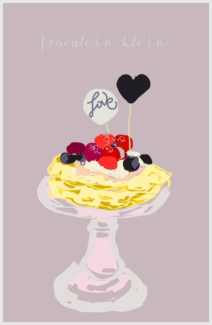 #illustration #sweet #breakfast #blog #valentines day  I like so much on of a sweet pics from one of my fav blog (link below) I'm impressed by this one so I've made an illustration / poster :) I will send this to the autor 'frlklein' of this blog of course as a gift.  http://fraeulein-klein.blogspot.com/2013/02/a-valentine-breakfast.html
