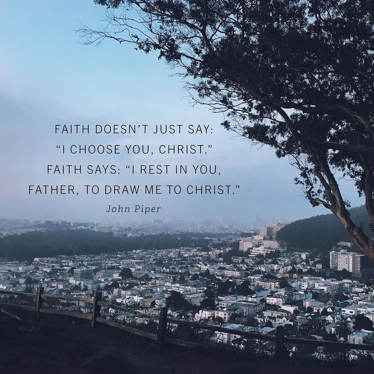 """""""New Testament faith is not just faith in God to provide us with the cross. It is faith in God to work in us that which is pleasing in his sight. Faith in the New Testament doesnt just say: I choose you Christ. Faith in the New Testament says: I rest in you Father to draw me to Christ. Of course faith rules out all boasting. It is faith in everything the Bible says not just a little piece of what the Bible says.  Suppose that you were drowning in a lake and the Son of God were standing on…"""