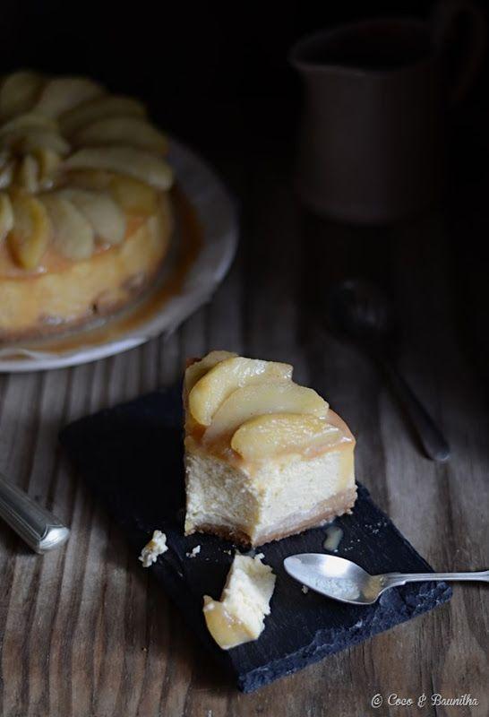 Cheesecake de maçã e canela com molho de caramelo {com ágave}